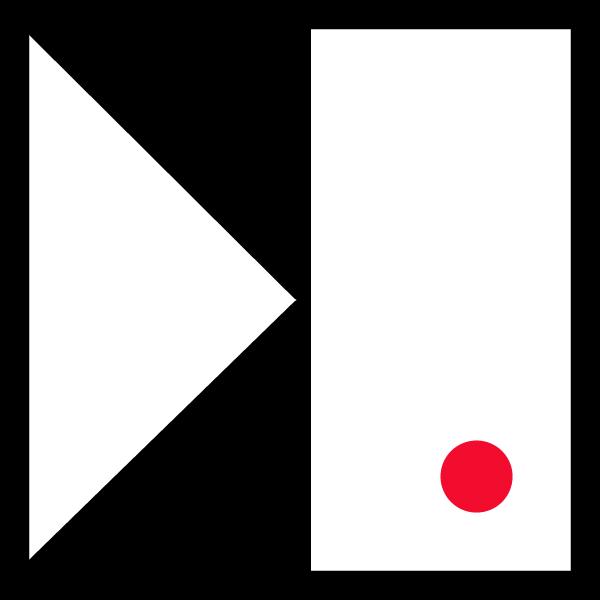 small logo_red dot_black frame10_600px