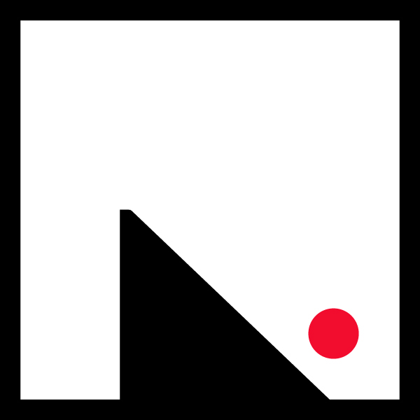 small logo_red dot_black frame11_600px
