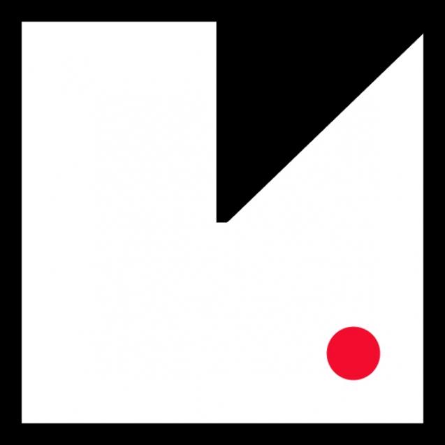 small logo_red dot_black frame3_600px